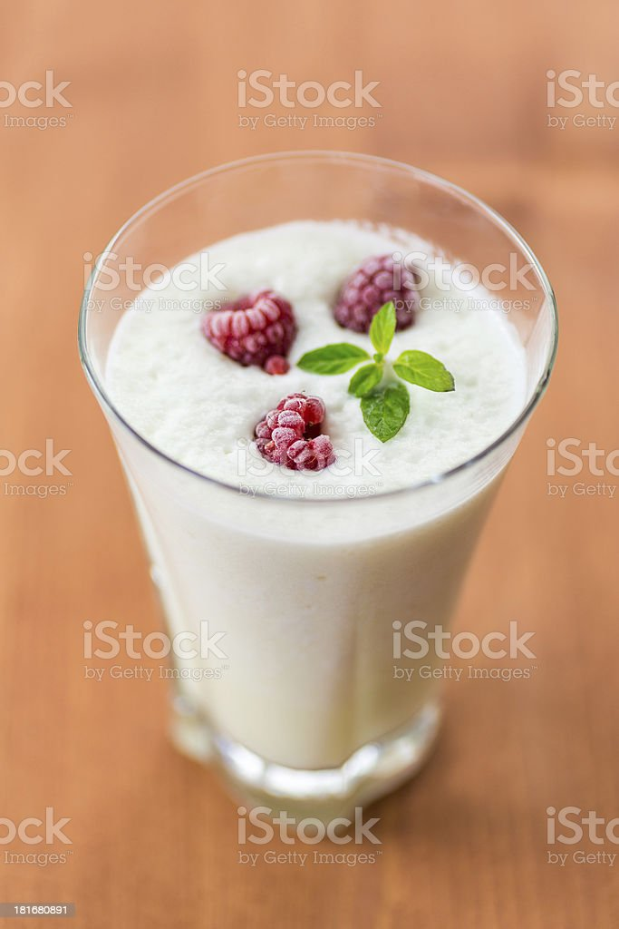 milk smoothie with fruit royalty-free stock photo