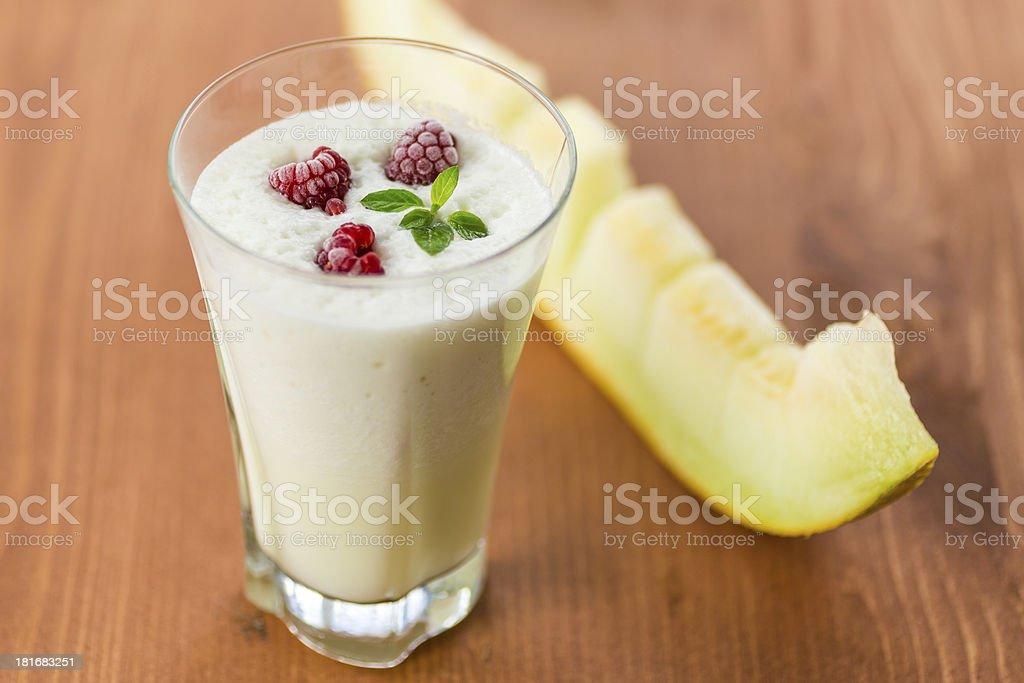 milk smoothie with fruit royalty-free stock photo