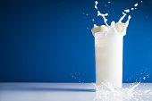 Milk splash in glass