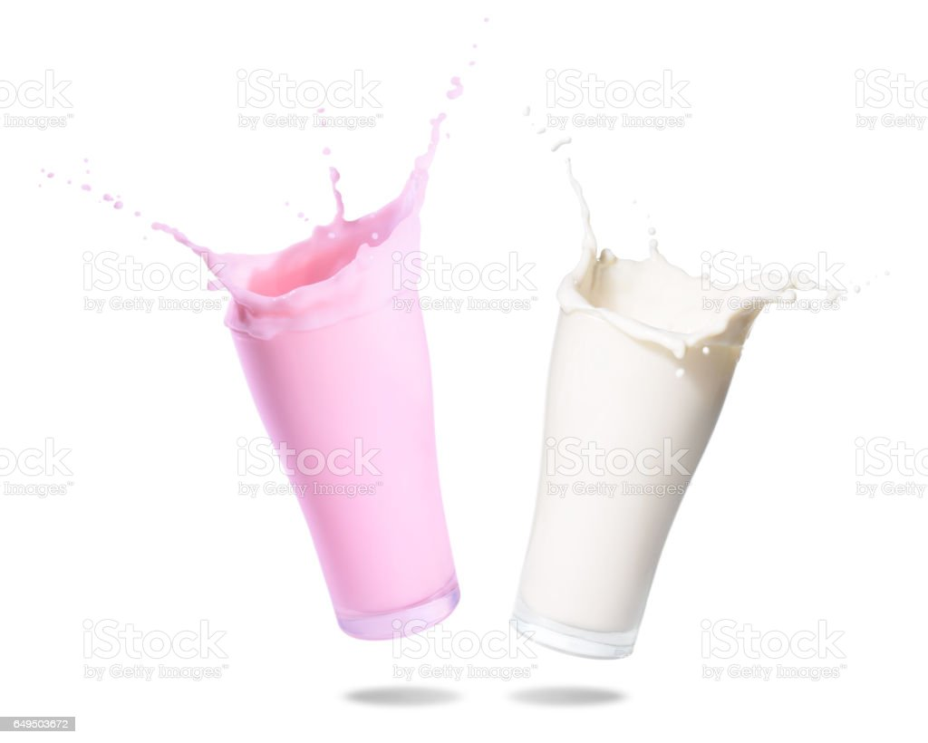 Milk Splashing stock photo