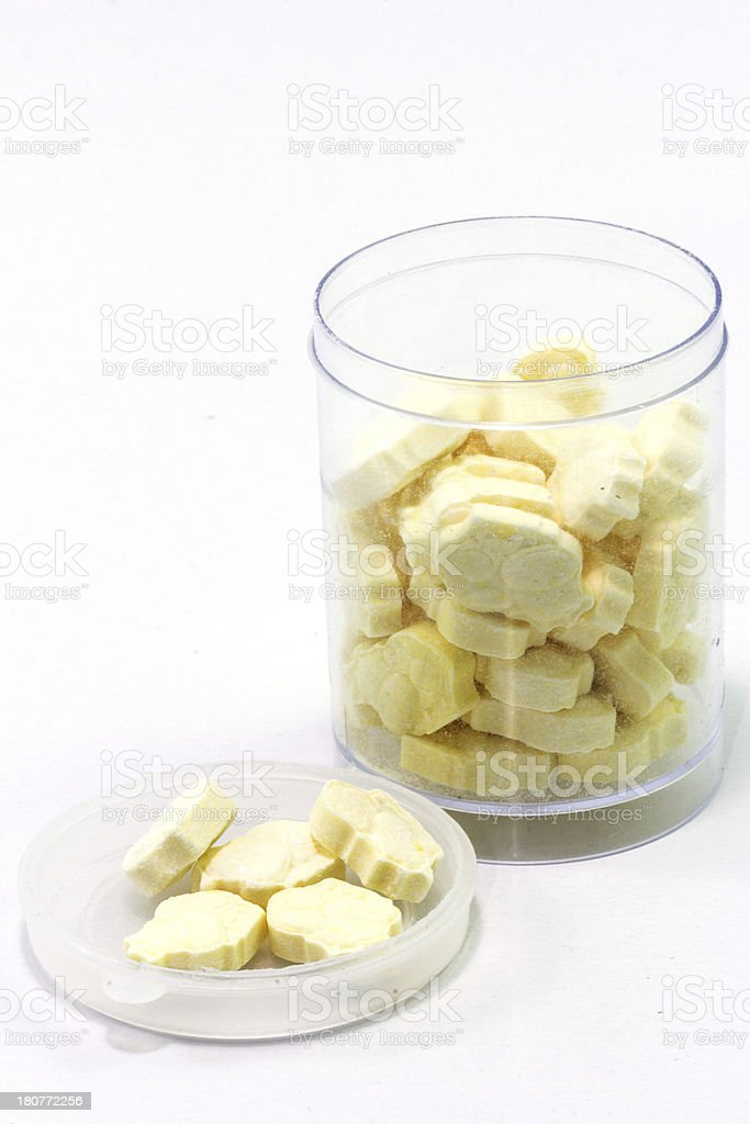 Milk tablets in packing royalty-free stock photo