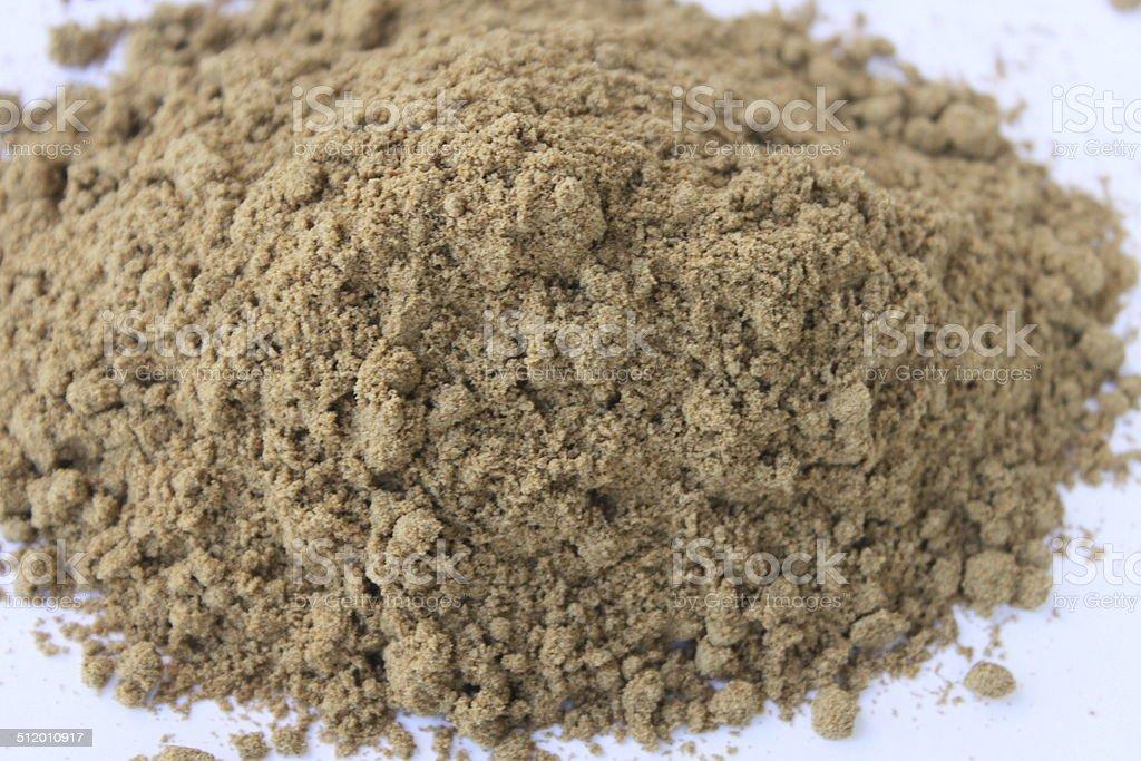 Milk Thistle Seed Powder stock photo