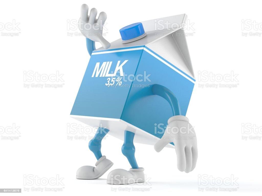 Milk toon stock photo