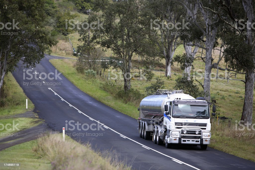 Milk Truck stock photo