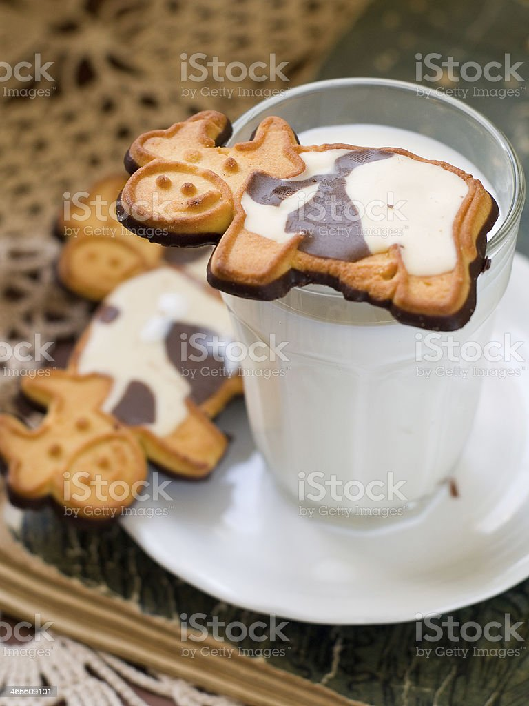 milk with cookie royalty-free stock photo