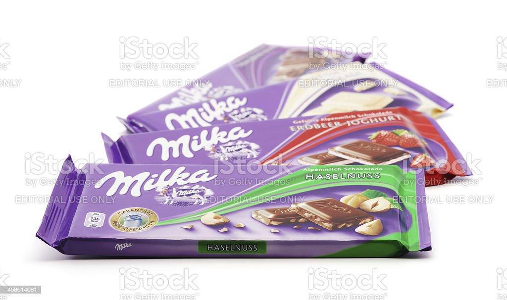 Milka chocolates stock photo