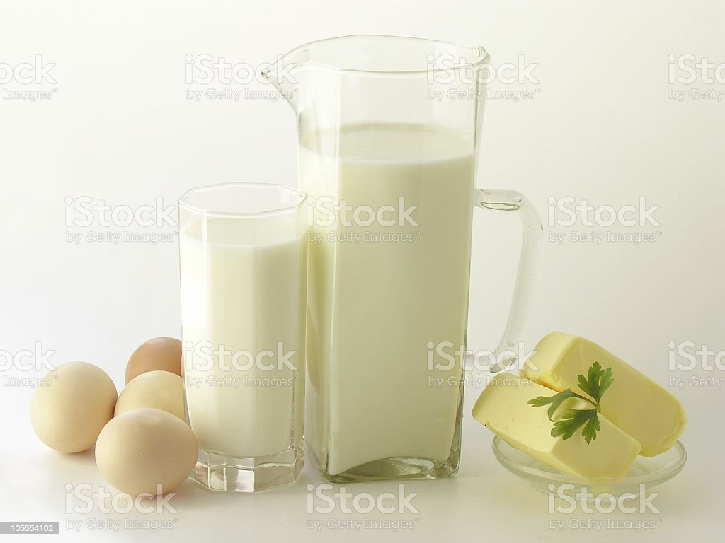 milk,eggs and butter royalty-free stock photo