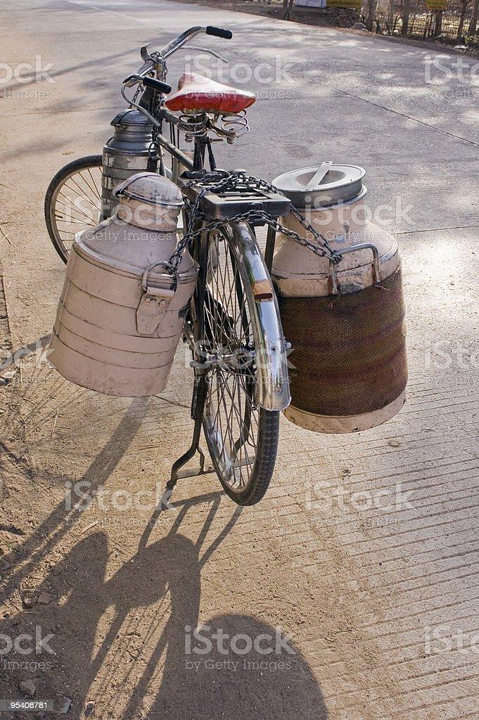 Milkman's Bicylce stock photo
