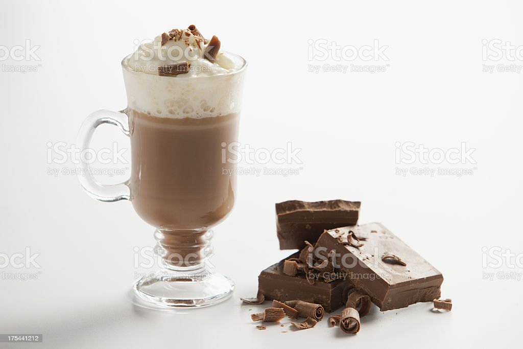 Milkshake and chocolate stock photo