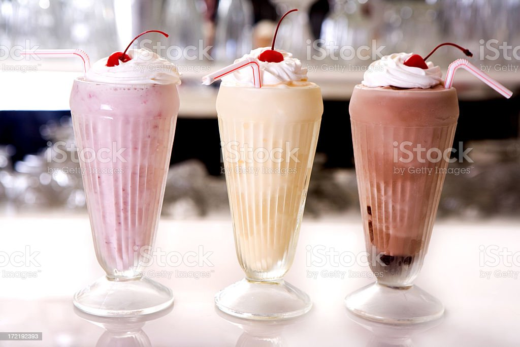 Milkshake trio stock photo