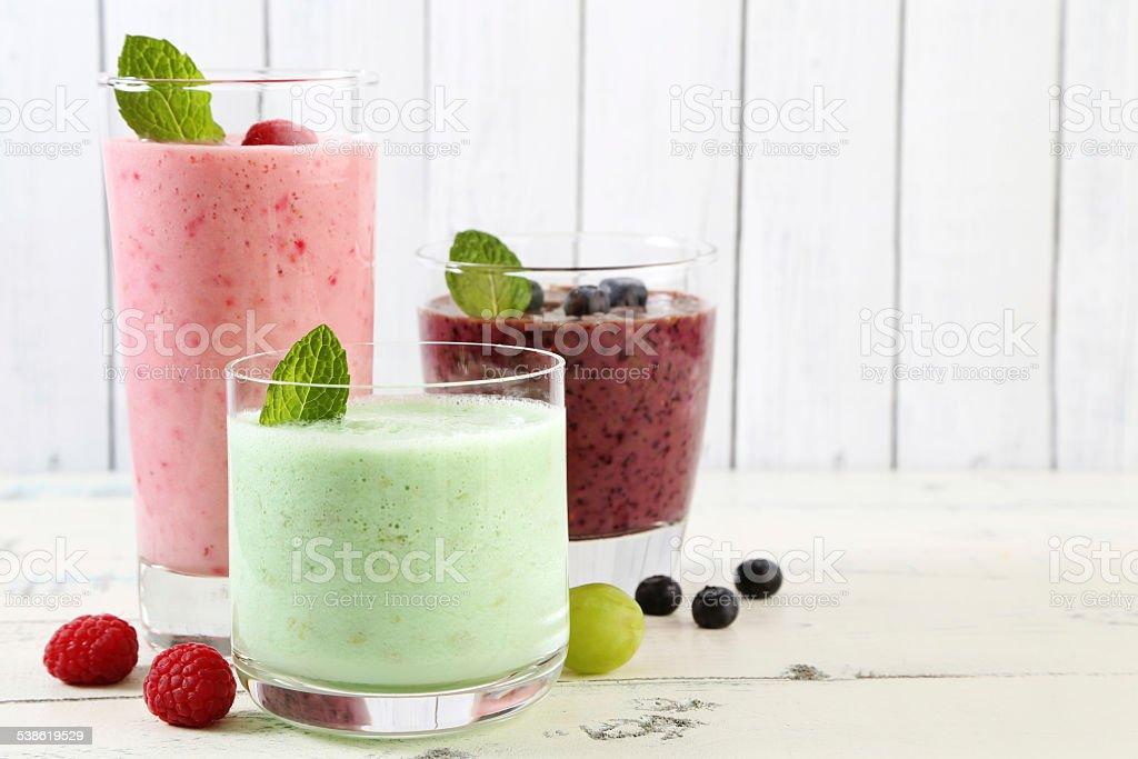 milkshakes stock photo