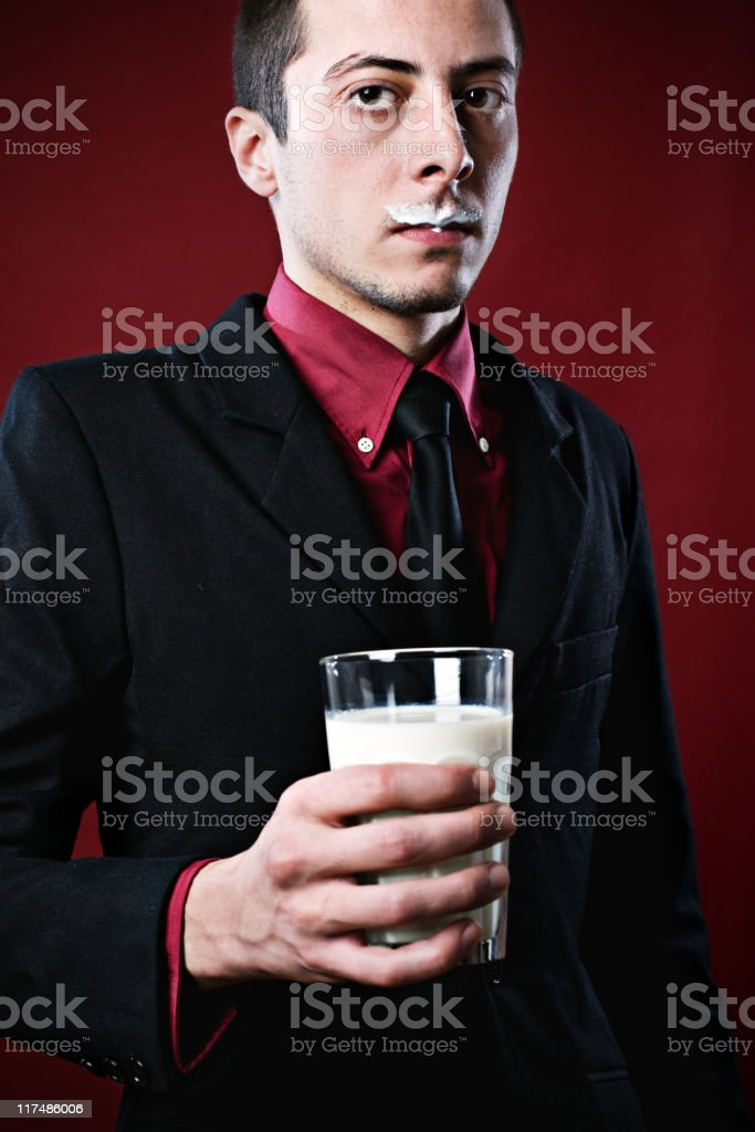 Milky boy stock photo