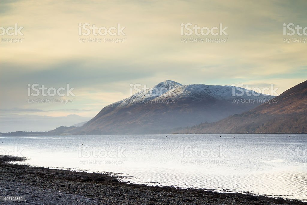 Milky Mist in the Western Highlands stock photo