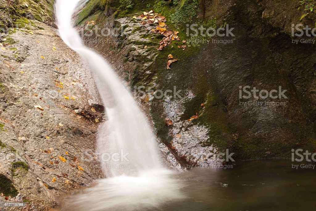 Milky waterfall stock photo
