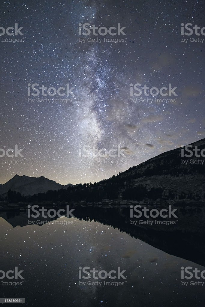 Milky Way and Clouds - Pioneer Basin stock photo