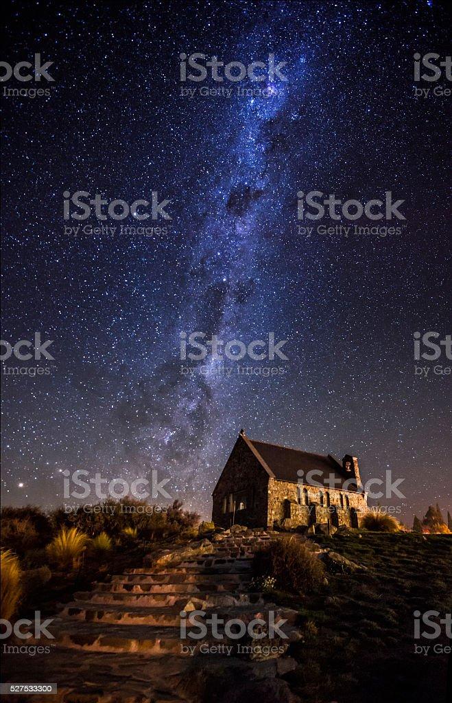 Milky Way At Lake Tekapo stock photo
