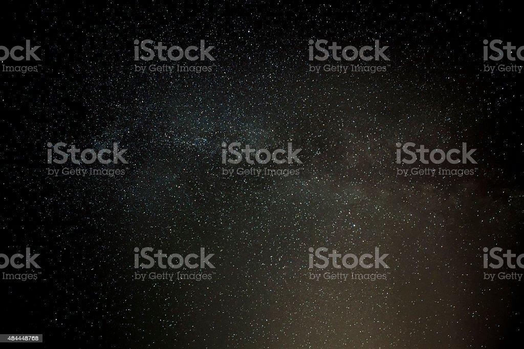 Milky Way at Selmun stock photo