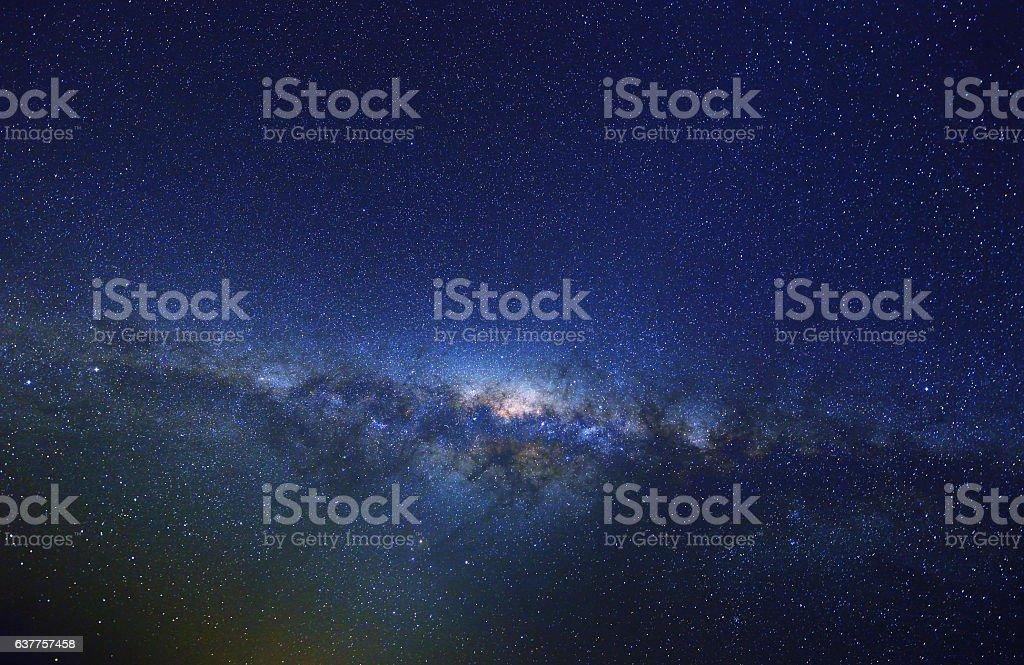 Milky Way at Spring, Australia stock photo