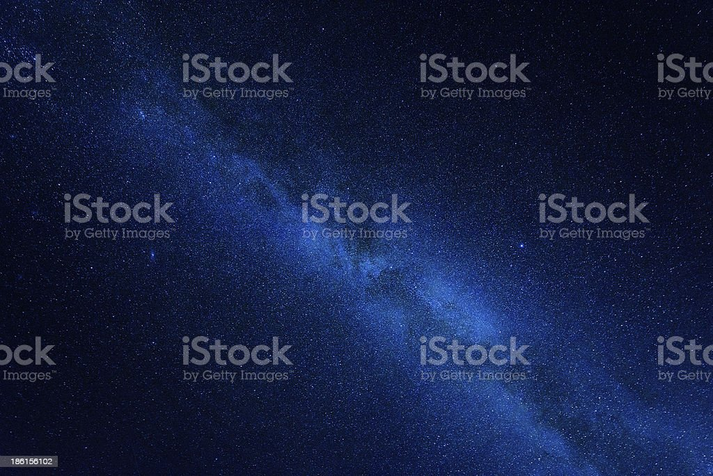 Milky way center stock photo