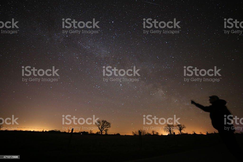 Milky way delight stock photo