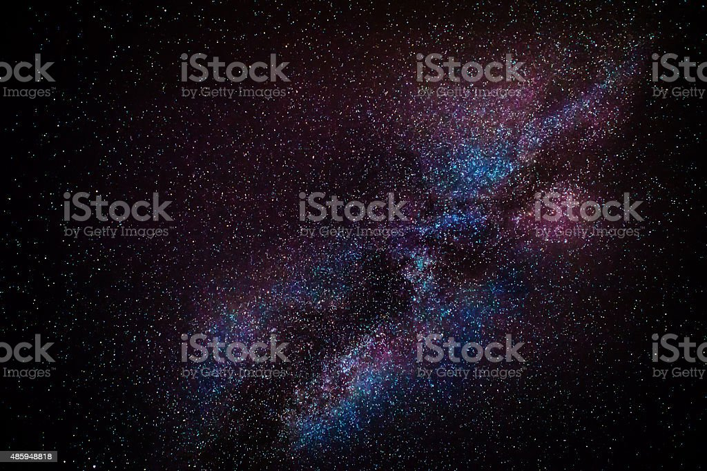 Milky Way Detail stock photo