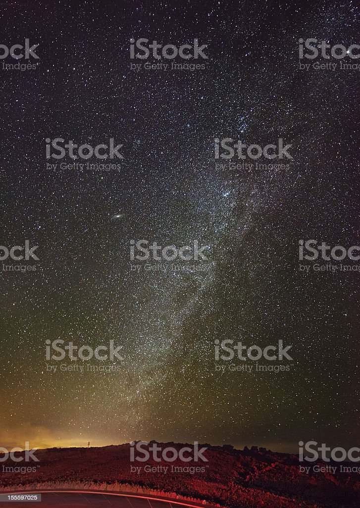 Milky Way From Hawaii royalty-free stock photo