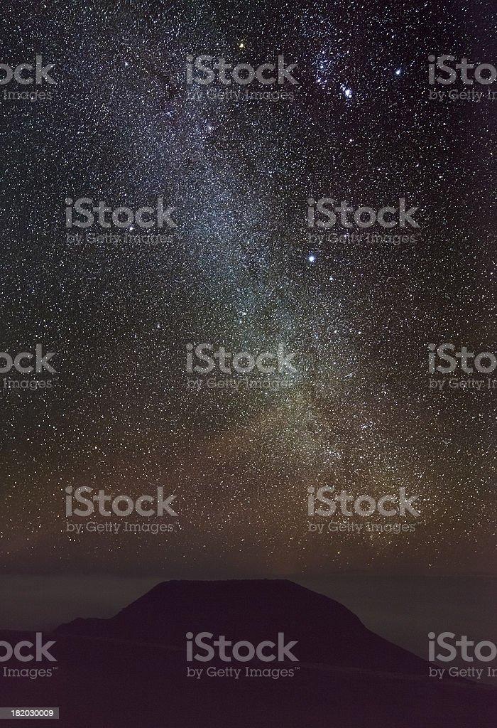 Milky Way From Hawaii stock photo