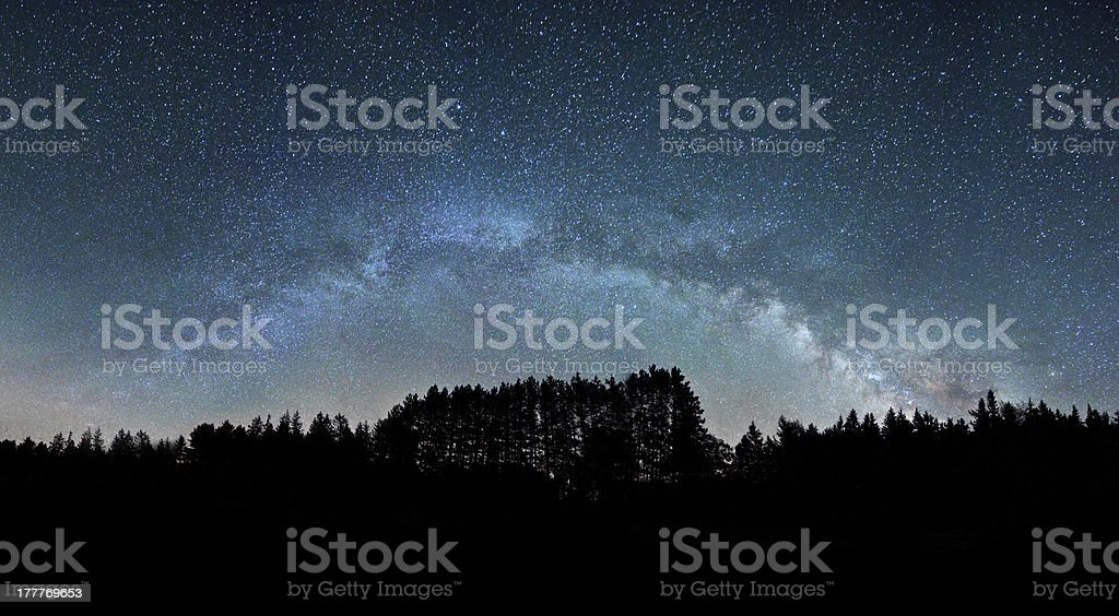 Milky Way Galaxy, our Home stock photo