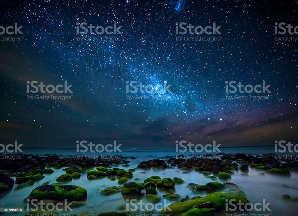 Milky Way Galaxy Over Great Ocean Road stock photo