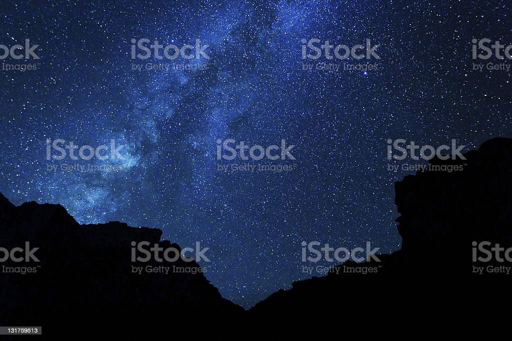 Milky Way Galaxy royalty-free stock photo