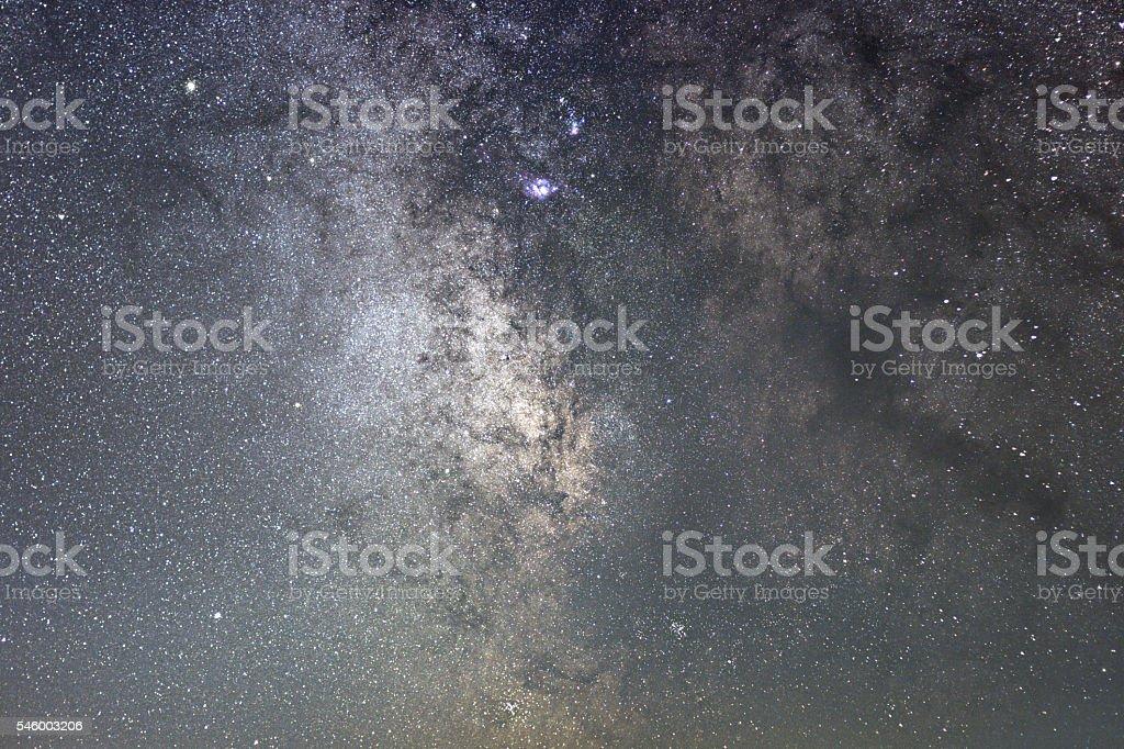 Milky Way galaxy sagittarius. Core of Milky Way. Starry Night stock photo