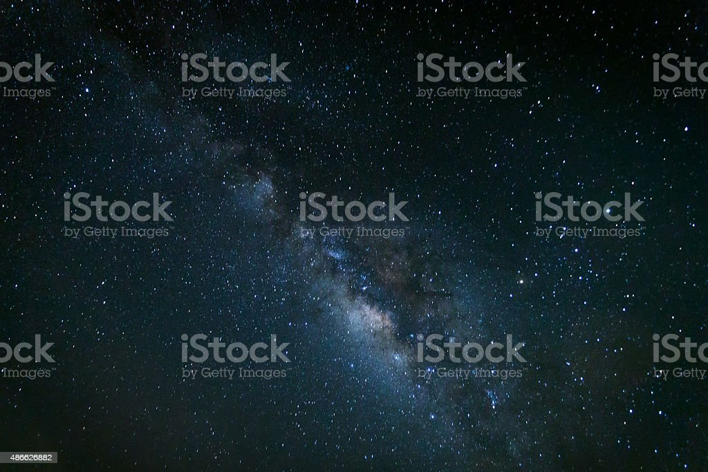 Milky way galaxy with stars and space stock photo