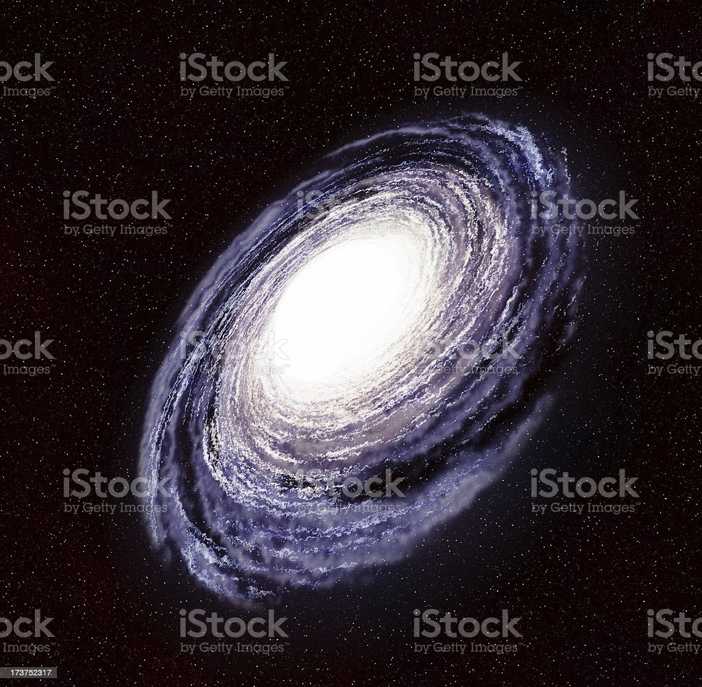 Milky Way in the Galaxy or Universe stock photo
