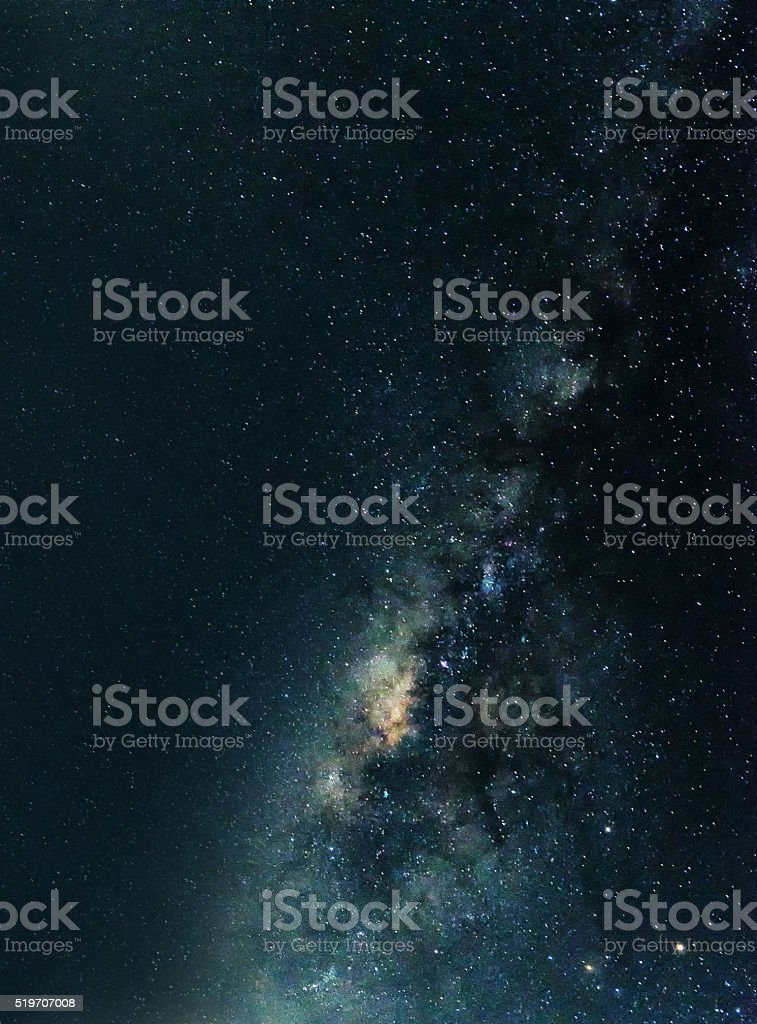 Milky Way in the sky in Thailand. stock photo