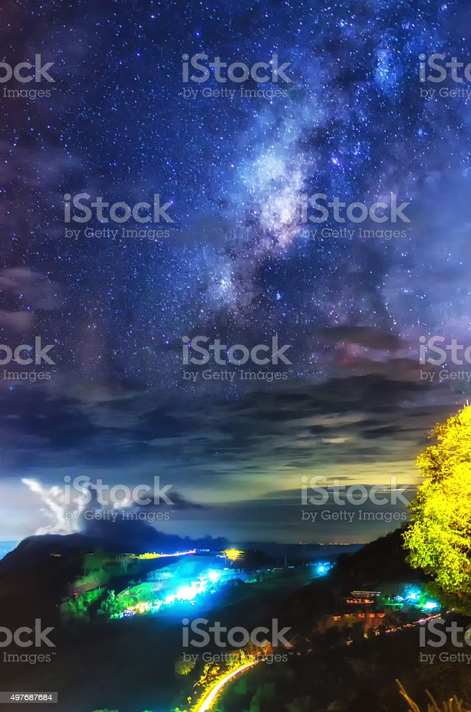 Milky Way in the sky stock photo