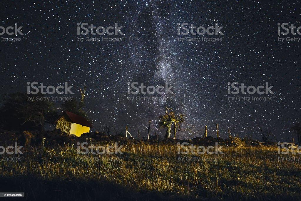 Milky Way in Tierra del Fuego stock photo