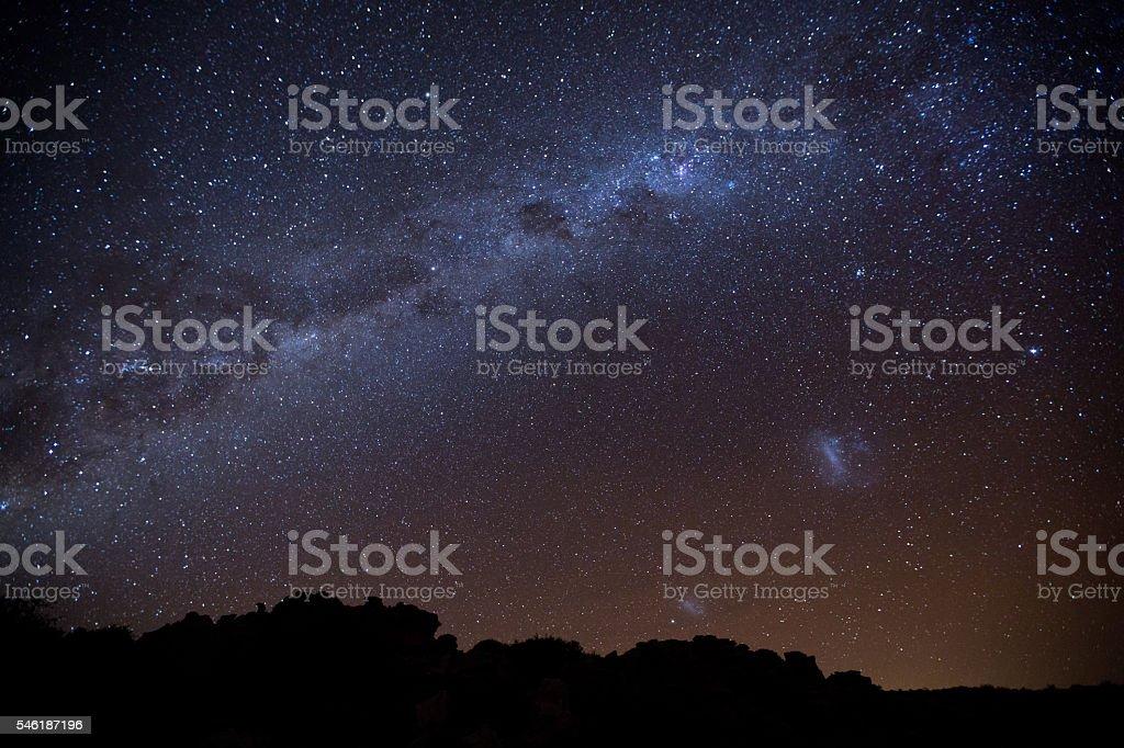 Milky Way Landscape stock photo
