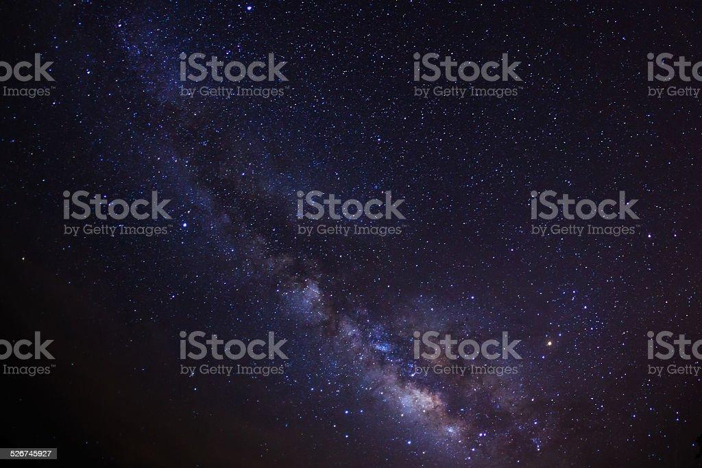 Milky Way.  Long exposure photograph stock photo