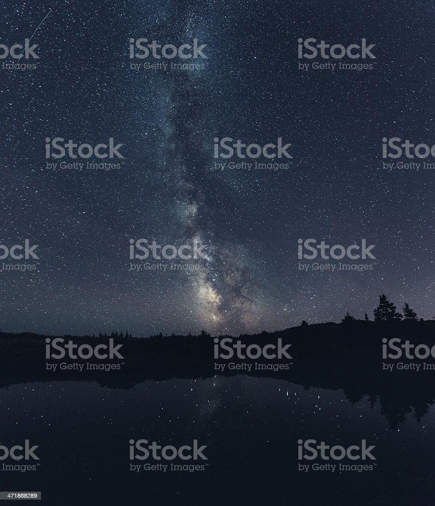 Milky Way Marsh royalty-free stock photo