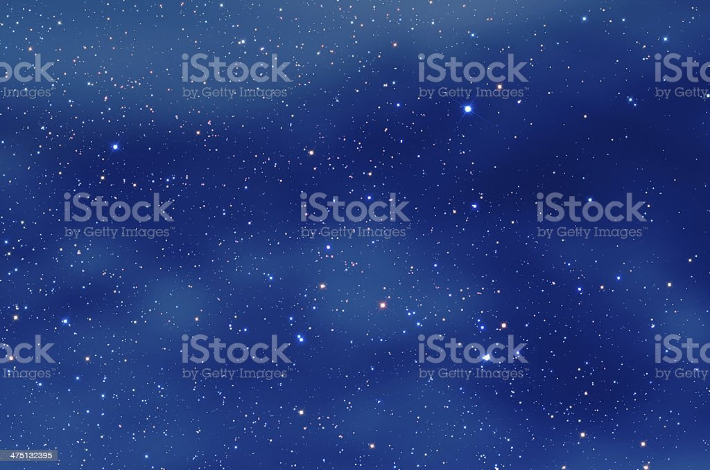 Milky Way Nebula royalty-free stock photo
