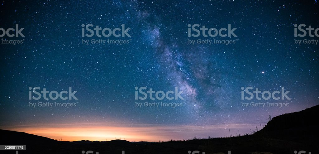 Milky Way Night Sky stock photo