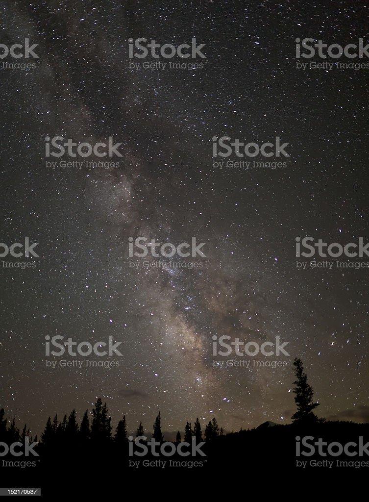 Milky Way over Tuolumne Meadows royalty-free stock photo