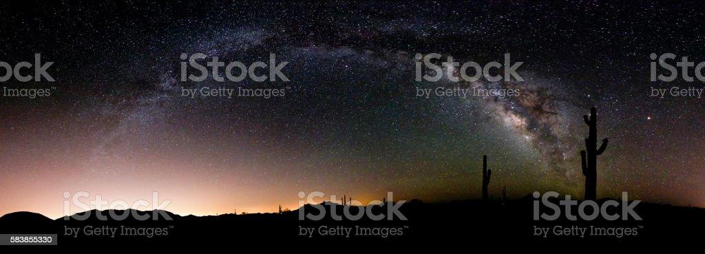 Milky Way Panorama stock photo