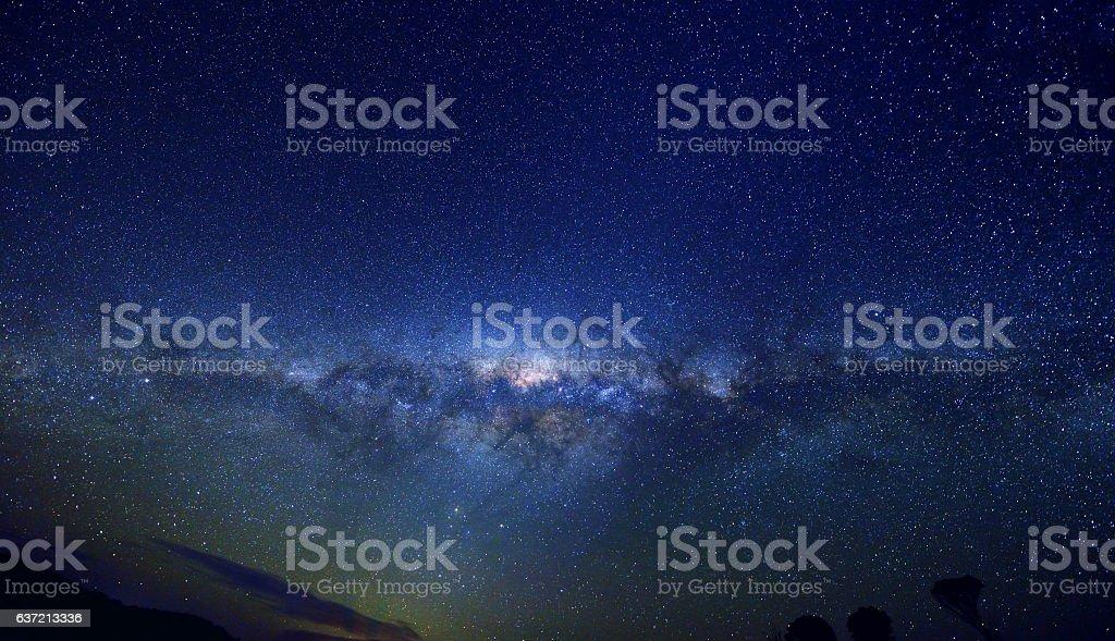Milky Way Panoramic stock photo