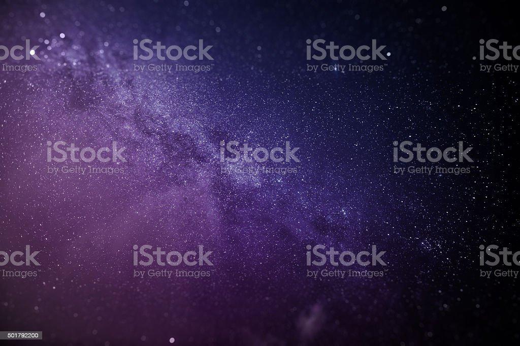 Milky way path stars sky stock photo