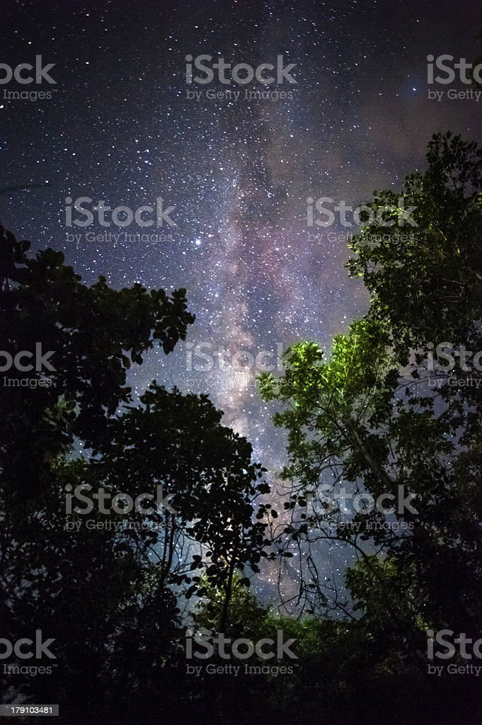 Milky Way royalty-free stock photo