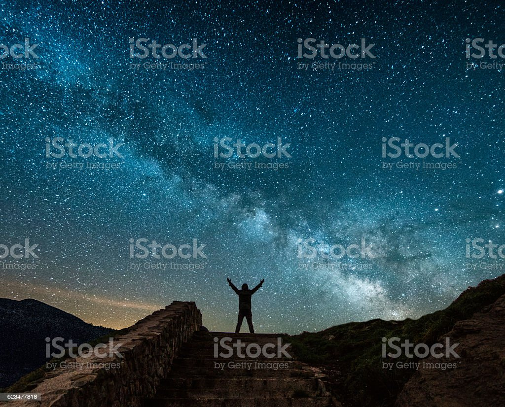 Milky way. stock photo