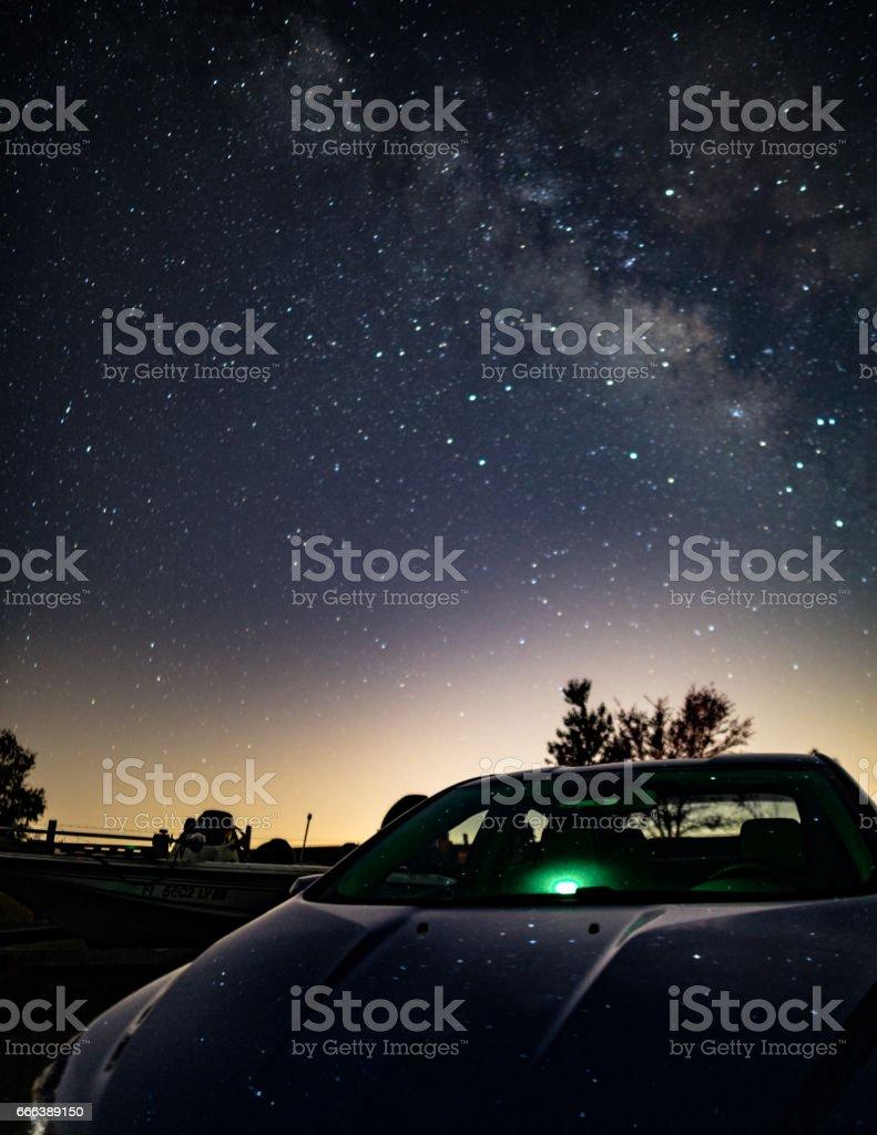 Milky Way Reflection stock photo