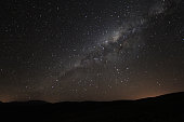 Milky way rising above the andean mountains, Argentina