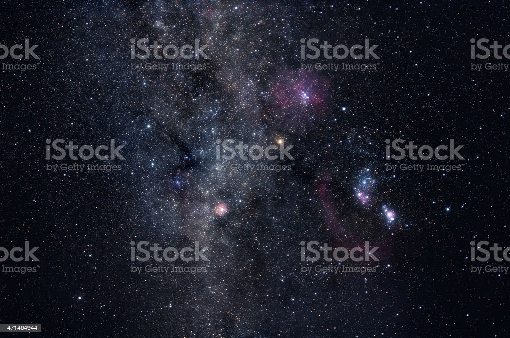 Milky Way star field stock photo